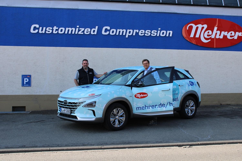 Mehrer setzt mit Wasserstoff-Fahrzeug auf modernste Mobilität